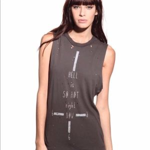 UNIF / Urban Outfitters Hell is so Hot Muscle Tee